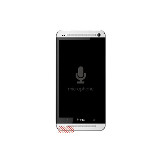 HTC One (M7) External Microphone Replacement